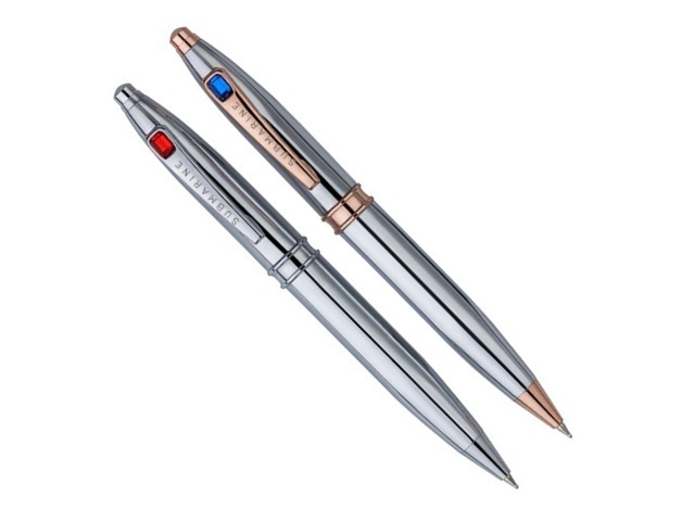 Model No. 881 | Triangle Chrome with Rosegold Ball Pen